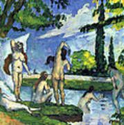 Bathers By Cezanne Poster