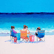 Beach Painting 'girl Friends' By Jan Matson Poster