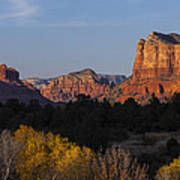 Bell Rock And Courthouse Butte Poster