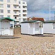Bexhill Beach Huts Poster