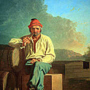 Bingham's Mississippi Boatman Poster