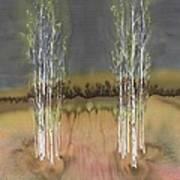 2 Birch Groves Poster by Carolyn Doe