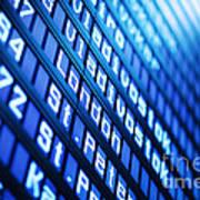 Blue Flight Board Poster