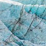 Blue Glacier Ice Background Texture Pattern Poster