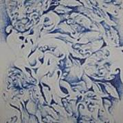 Blue Poster by Moshfegh Rakhsha
