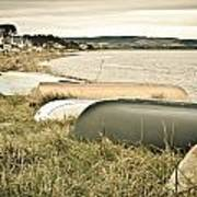 Boats At Findhorn Poster