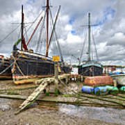 Boats On The Hard At Pin Mill Poster