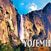 Bridal Veil Falls Yosemite National Park Poster