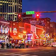 Broadway Street Nashville Poster
