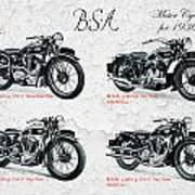 Bsa Motor Cycles For 1936 Poster