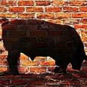Bull At Sunrise Poster