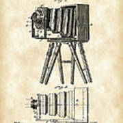 Camera Patent 1885 - Vintage Poster
