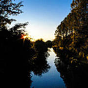 Canal Sunset Poster