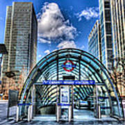 Canary Wharf Station Poster
