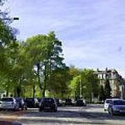 Cars On A Street In Edinburgh Poster