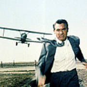 Cary Grant In North By Northwest  Poster by Silver Screen