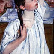 Cassatt's Girl Arranging Her Hair Poster
