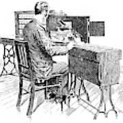 Census Machine, 1890 Poster