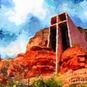 Chapel Of The Holy Cross Sedona Arizona Red Rocks Poster by Amy Cicconi