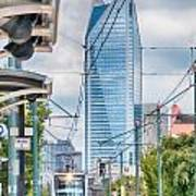 Charlotte North Carolina Light Rail Transportation Moving System Poster