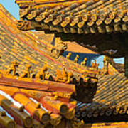 China Forbidden City Roof Decoration Poster