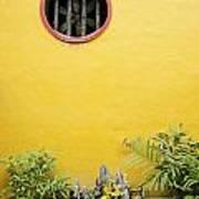 Chinese Temple Garden Detail In Vietnam Poster