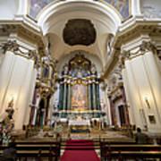 Church Of Santa Barbara Interior In Madrid Poster by Artur Bogacki