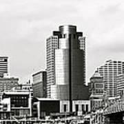 Cincinnati Black And White Panorama Poster