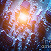 Circuit Board Abstract Poster
