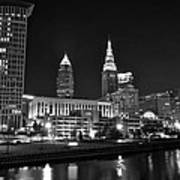 Cleveland In Black And White Poster