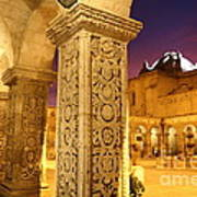 Cloisters At Sunset Arequipa Poster