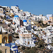 Colorful Oia Poster