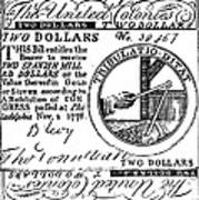 Continental Banknote, 1776 Poster