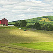 Cutting Hay In Summer On Maine Farm Poster