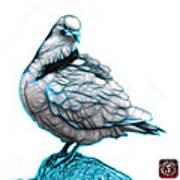 Cyan Pigeon Pop Art 5516 - Fs - Bb -  Modern Animal Artist James Poster