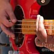 Bass Playing - Denver Poster