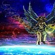 Descending Seraphim Poster by Michael Schneider