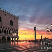 Doges Palace At Sunrise Venice Italy Poster
