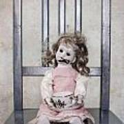 Doll With Tea Cup Poster