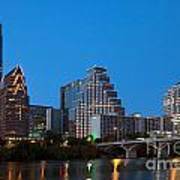 Downtown Austin Skyline Poster