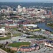 Downtown Skyline Of Wilmington Poster