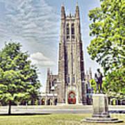 Duke Chapel In Spring Poster