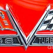 396 Turbo Jet Emblem Poster