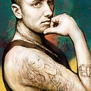 Eminem - Stylised Drawing Art Poster Poster