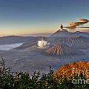 eruption at Gunung Bromo Poster