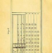Felt Adding Machine Patent Art 1887 Poster