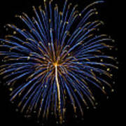 Fireworks Bursts Colors And Shapes Poster