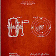 Fishing Reel Patent From 1874 Poster
