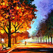 Flaming Night Poster by Leonid Afremov