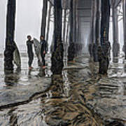 Fog At The Pier Poster